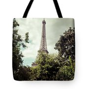 Vintage Paris Landscape Tote Bag