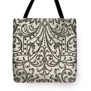 Vintage Parterre Design Tote Bag