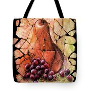 Vintage  Pear And Grapes Fresco   Tote Bag