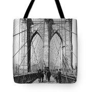 Vintage Photo Brooklyn Bridge Tote Bag