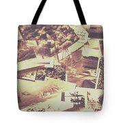 Vintage Photo Design Abstract Background Tote Bag