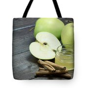 Vintage Photo Of Green Apples Tote Bag