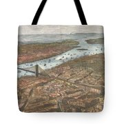 Vintage Pictorial Map Of Brooklyn And Nyc  Tote Bag