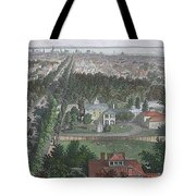 Vintage Pictorial Map Of Buffalo Ny - 1872 Tote Bag