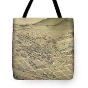 Vintage Pictorial Map Of El Paso Texas - 1886 Tote Bag