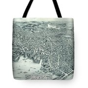 Vintage Pictorial Map Of Lynn Massachusetts - 1916 Tote Bag