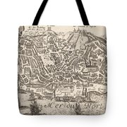 Vintage Pictorial Map Of New York City - 1672 Tote Bag