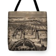 Vintage Pictorial Map Of New York City - 1840 Tote Bag