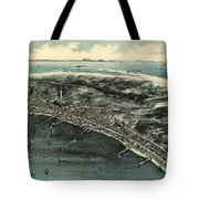 Vintage Pictorial Map Of Provincetown - 1910 Tote Bag