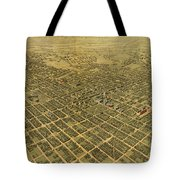 Vintage Pictorial Map Of San Jose Ca - 1901 Tote Bag