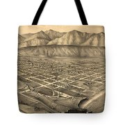 Vintage Pictorial Map Of Santa Barbara Ca - 1877 Tote Bag