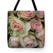 Vintage Pink Roses Tote Bag