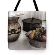 Vintage Pitcher, Pan, And Fruit Bowl Tote Bag