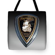 Vintage Plymouth Car Emblem Tote Bag