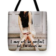 Vintage Poise Quote Tote Bag