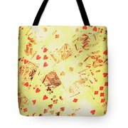 Vintage Poker Background Tote Bag