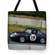 Vintage Porsche 19 Climbing Hill Tote Bag