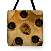 Vintage Porsche Wheel Logo Tote Bag