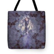 Vintage Portrait. Elegant Girl Wearing Lace Veil Tote Bag