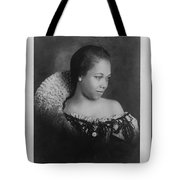 Vintage Portrait Photo Of Young Pretty Colored Lady Tote Bag