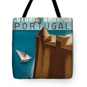 Vintage Portugal Travel Poster Tote Bag
