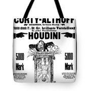 Vintage Poster Advertising A Performance By Houdini, 1922 Tote Bag