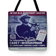 Vintage Poster - Be A Ship's Officer Tote Bag