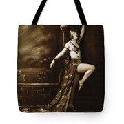 Vintage Poster Posing Dancer In Costume Tote Bag