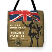 Vintage Poster - This Is Your Flag Tote Bag