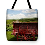 Vintage Red Wagon Tote Bag