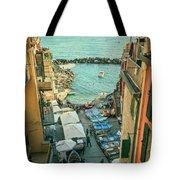 Vintage Riomaggiore Cinque Terre Italy Tote Bag