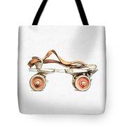 Vintage Roller Skate Painting Tote Bag