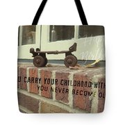 Vintage Roller Skate Quote Tote Bag