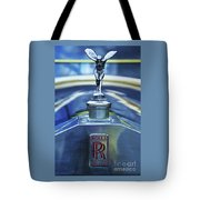 Collectible Logo And Emblem On A Vintage Rolls Royce Tote Bag
