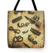 Vintage Romance Tote Bag