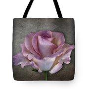 Vintage Rose On Gray Tote Bag