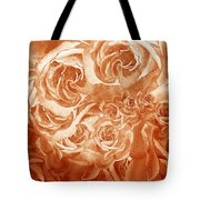 Vintage Rose Petals Abstract  Tote Bag