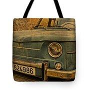 Vintage Rusty Renault Truck Tote Bag