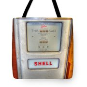 Vintage Shell Gas Pump Tote Bag