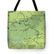 Vintage Smoky Mountains National Park Map Tote Bag