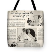 This Home Shows The Wonder Vintage Soap Ad Tote Bag