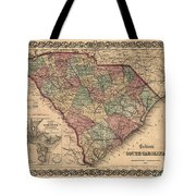 Vintage South Carolina Map Tote Bag