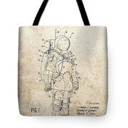 Vintage Space Suit Patent Tote Bag