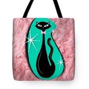 Vintage Sparkle Kitty Tote Bag