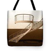 Vintage Stair 48 Escalera Caracol Helicoidal Tote Bag