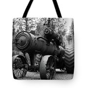 Vintage Steam Tractor Tote Bag