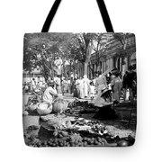 Vintage Street Scene In Ponce - Puerto Rico - C 1899 Tote Bag
