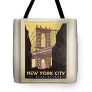 Vintage-style New York City Poster Tote Bag