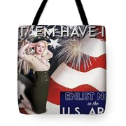 Vintage Style Pinup Recruiting Poster Tote Bag