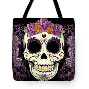 Vintage Sugar Skull And Roses Tote Bag